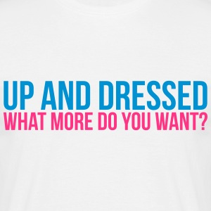 up & dressed T-shirts - Herre-T-shirt