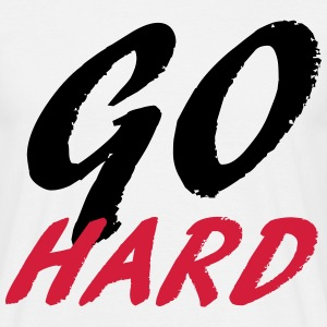 Go Hard T-shirts - Herre-T-shirt