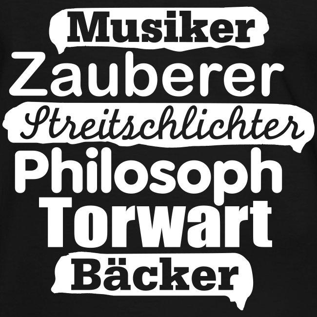 Herren-Kontrast-Shirt Motiv Musiker