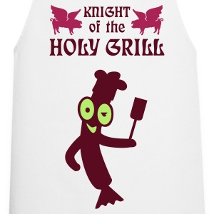 White Knight of the holy grill (Txt, 2c)  Aprons - Cooking Apron