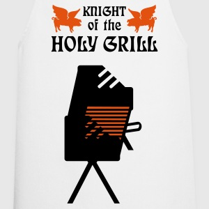 Hvit Knight of the holy grill (Txt, 2c) Forklær - Kokkeforkle
