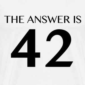 The Answer is 42 White T-Shirts - Men's Premium T-Shirt