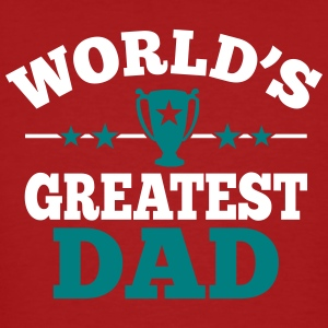 World's greatest Dad T-shirts - Mannen Bio-T-shirt