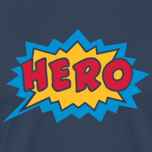 Comic, Hero, Speech Bubble, Superhero, Cartoon Camisetas - Camiseta premium hombre