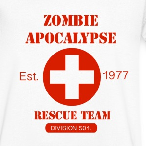 Zombie Apocalypse Rescue Team Tee shirts - T-shirt Homme col V