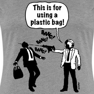 Cartoon: Anti-Plastikmüll-Aktivist (2C) - Frauen Premium T-Shirt
