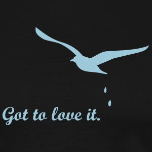 Möwen-Attacke / seagull droppings (1c) T-Shirts - Men's Premium T-Shirt