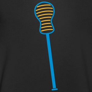 single lacrosse stick  T-Shirts - Men's V-Neck T-Shirt