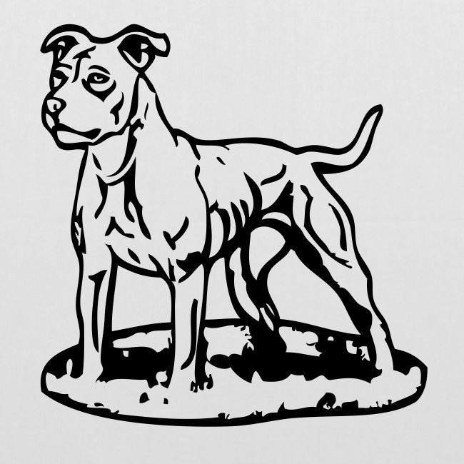 Koira-kangaskassi pitbull