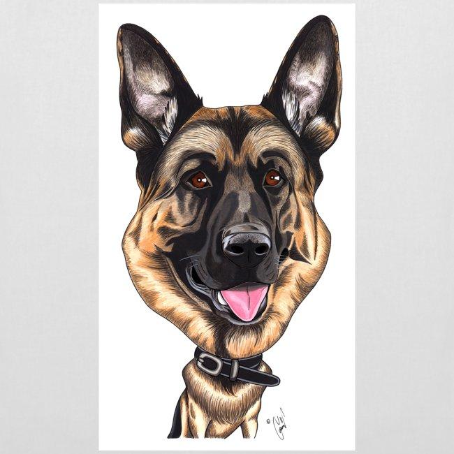 Koira-kangaskassi saksanpaimenkoira