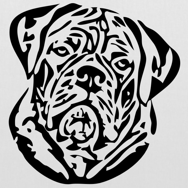 Koira-kangaskassi bordeauxdog