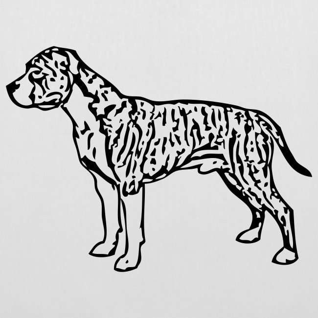 Koira-kangaskassi americanstaff