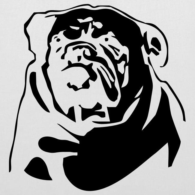Koira-kangaskassi englaninbuldog