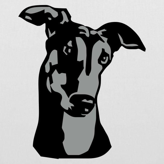 Koira-kangaskassi greyhound