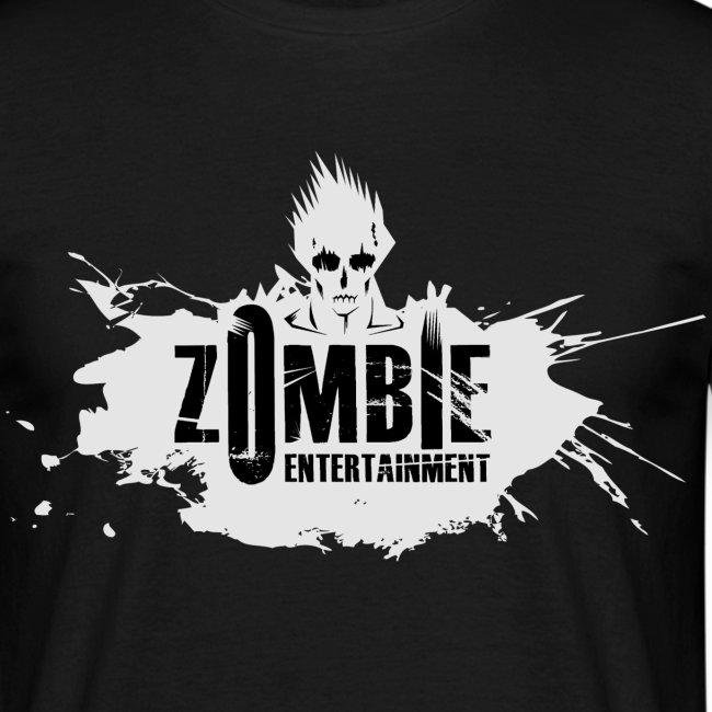 Zombie Entertainment Shirt! (Logo Weiß-Schwarz)