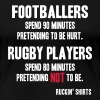 Footballers Pretend to Be Hurt - Women's Premium T-Shirt