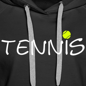 Balle de tennis tennis ball clubs 2C sportifs. Sweat-shirts - Sweat-shirt à capuche Premium pour femmes