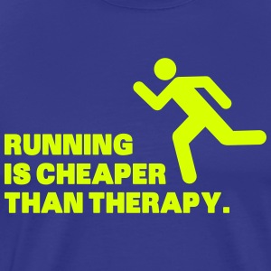 Running Is Cheaper Than Therapy T-shirts - Premium-T-shirt herr