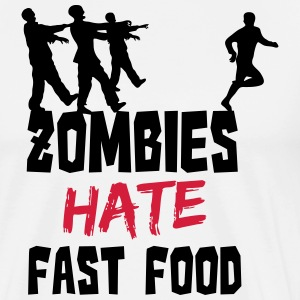 Zombies Hate Fast Food T-skjorter - Premium T-skjorte for menn