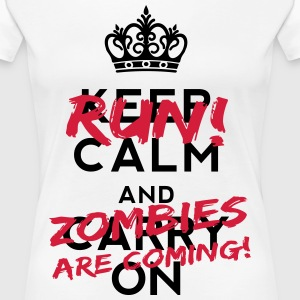 Zombies Are Coming T-shirts - Dame premium T-shirt