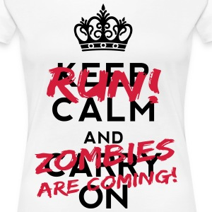 Zombies Are Coming T-Shirts - Women's Premium T-Shirt