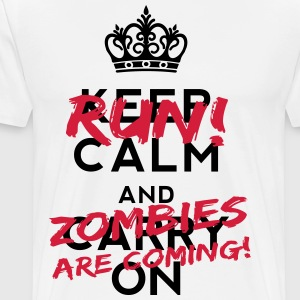 Zombies Are Coming T-Shirts - Men's Premium T-Shirt