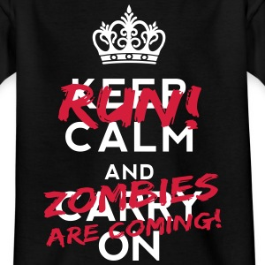 Zombies Are Coming Shirts - Teenage T-shirt