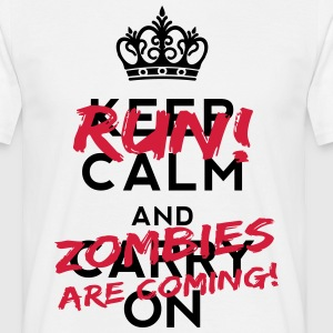 Zombies Are Coming T-shirts - Mannen T-shirt
