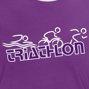 Triathlon lady - Frauen Kontrast-T-Shirt
