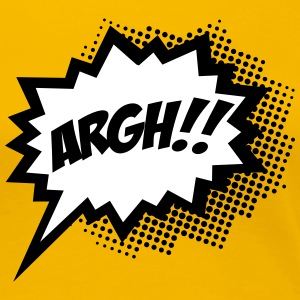 Comic ARGH!, Super Hero, Cartoon, Speech Bubble T-Shirts - Women's Premium T-Shirt