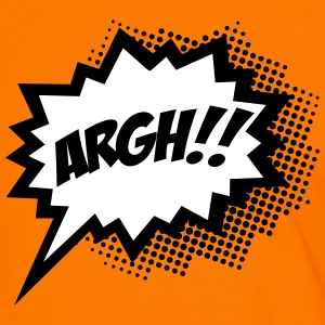 Comic ARGH!, Super Hero, Cartoon, Speech Bubble T-Shirts - Men's Ringer Shirt
