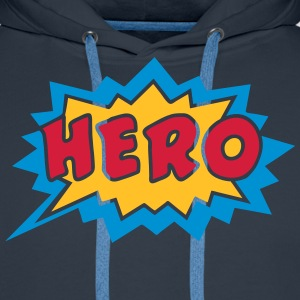 Comic, Hero, Speech Bubble, Superhero, Cartoon Bluzy - Bluza męska Premium z kapturem