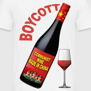 boycott wine made in china Tee shirts - T-shirt Homme