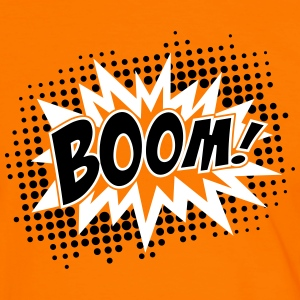 BOOM, comic, speech bubble, cartoon, balloon, dots T-shirts - Kontrast-T-shirt herr