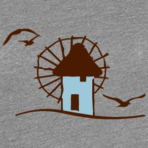 Griechische Windmühle / Greek windmill (2c) T-Shirts - Frauen Premium T-Shirt