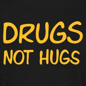 Sand beige drugs not hugs Men's T-Shirts - Maglietta da uomo