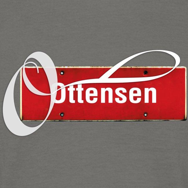 """(Hamburg) -Ottensen Ortsschild mit Tattoo-""""O"""", T-Kiezshirt"""