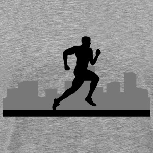 man running, run, city run, T-Shirts - Men's Premium T-Shirt