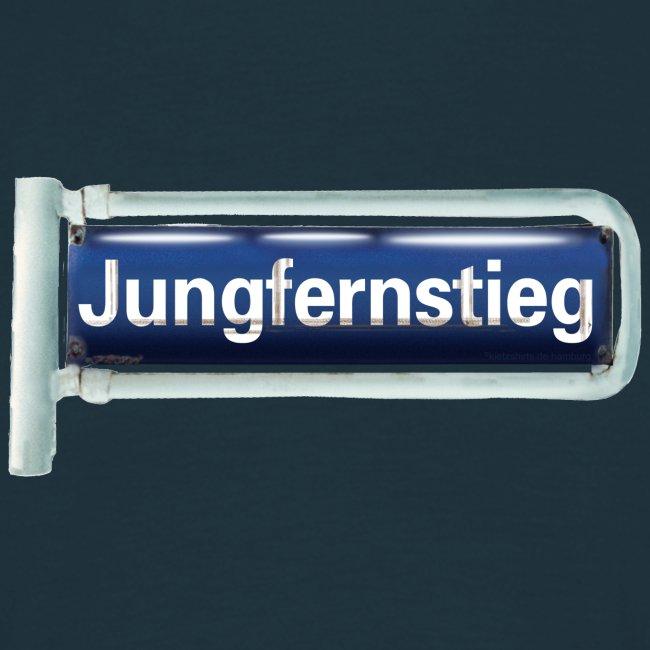 Hamburg, Jungfernstieg, Emaille-Schild