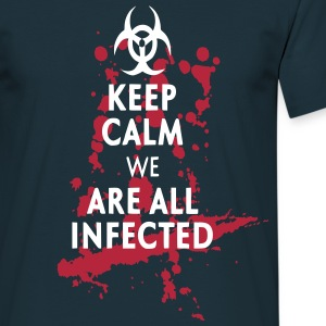 Keep Calm infected Tee shirts - T-shirt Homme