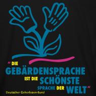 Motiv ~ Kinder Bio T-Shirt (DGS schönste Sprache - Blume)