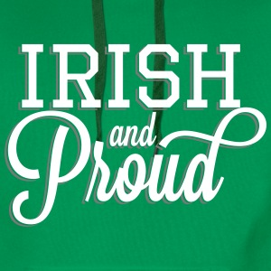 Irish and Proud - White Lettering Hoodies & Sweatshirts - Men's Premium Hoodie