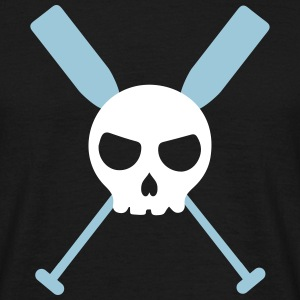 Skull dragon boat paddle canoe skull 2 c. T-Shirts - Men's T-Shirt