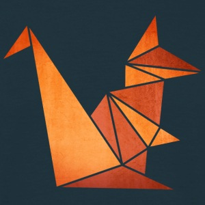 Origami: Eichhörnchen (Pergament-Optik) T-Shirts - Men's T-Shirt