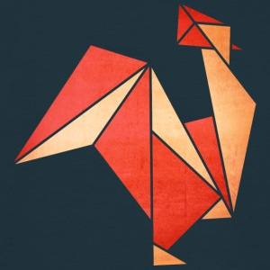 Origami: Hahn (Pergament-Optik) T-shirts - Herre-T-shirt