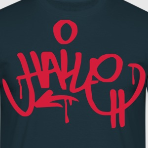 Halle Graffiti Ultras Shirt Design - Männer T-Shirt