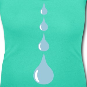 Emerald green Drops Women's Tees - Women's Scoop Neck T-Shirt