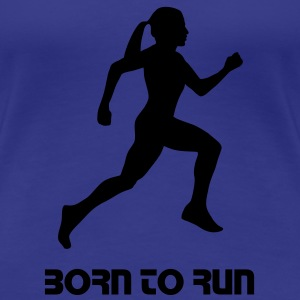 run, woman running - Vrouwen Premium T-shirt