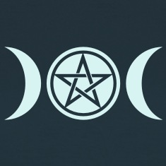 Wicca triple moon - Goddess symbol - Pentagram T-Shirts