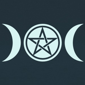 Wicca triple moon - Goddess symbol - Pentagram T-Shirts - Women's T-Shirt